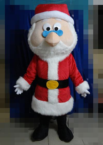 SX0723 With one mini fan inside the head red Father Christmas mascot suit for adult Santa Claus cartoon costume