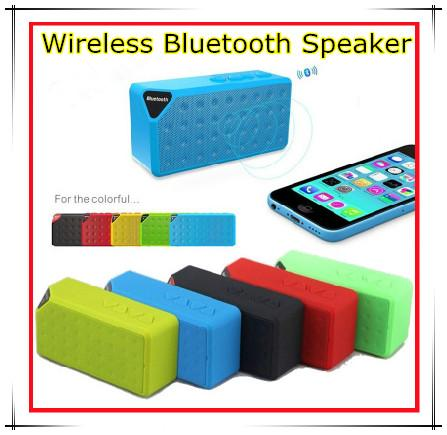 Portable Wireless Bluetooth Speaker X3 Calling TF Card FM Line in Function for Smartphone tablet pc MP3 MP4 Player high quality 10pcs/up