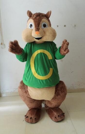 2016 NEW Adult Theodore mascot costume Chipmunks costume Chipmunk mascot costume from Alvin and the Chipmunks