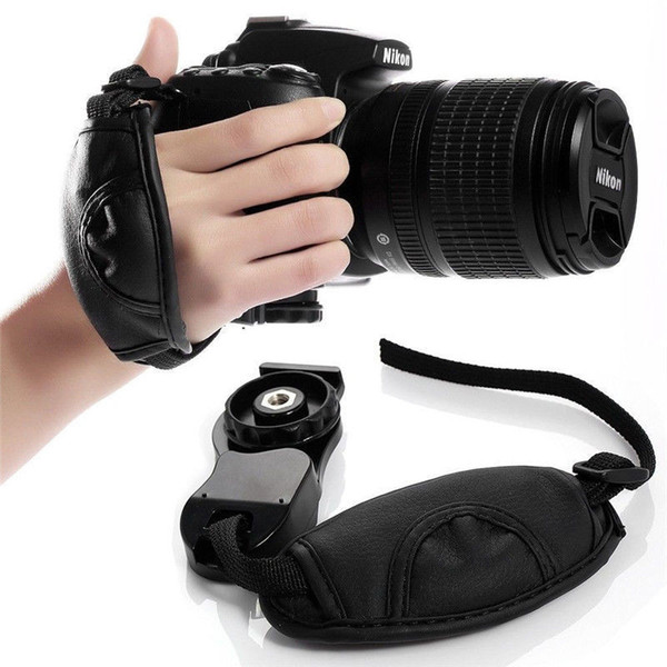 Hot Camera Hand Strap Grip for Canon EOS Nikon Sony Olympus SLR/DSLR Leather Strap 500pcs/lot