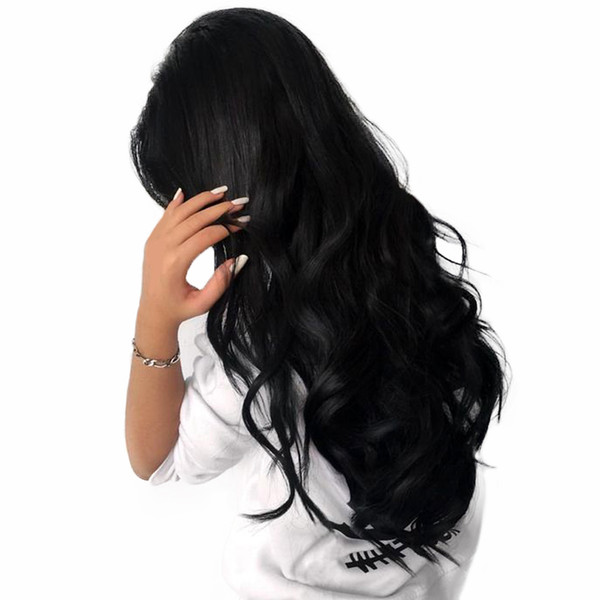 Body Wave Hair Weaves Wigs Unprocessed Brazilian Virgin Hair Full Lace Wigs Natural Black Body Wave Human Hair Glueless Lace Wigs For Women