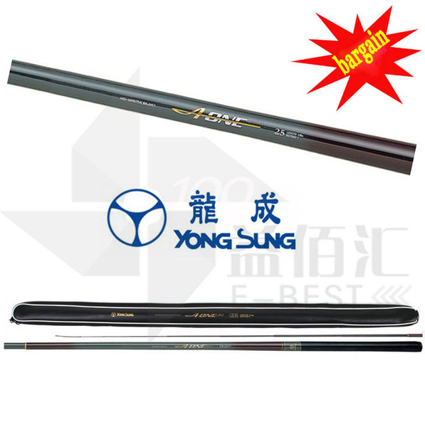 Carbon Coated Stream Fishing Rods YONG SUNG A-ONE FISH SENSITIVE Telescopic Carp Trout Rod Tackle Poles Pole 3.1m-6.45m 2017 FREE SHIPPING