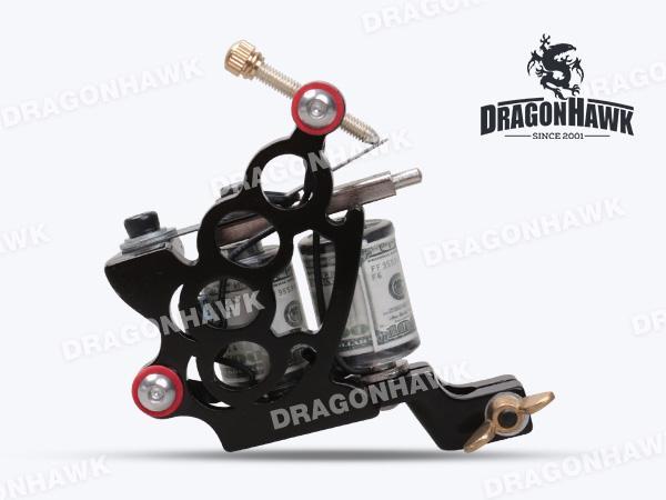 Tattoo Machine Gun Plata Shader 10 Wraps Steel Frame Copper Coils WQ4124