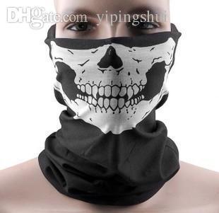 Atacado-2015 Frete grátis Atacado Crânio Design Multi Função Bandana Motociclista Máscara Facial Pescoço Tubo Lenço