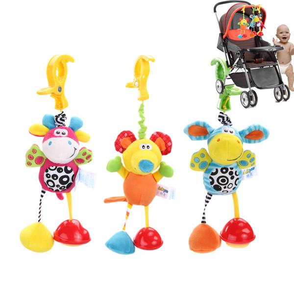 Baby Toys Rattles Mobile Soft Doll Plush Kids Toys for Children Newborns Kids Animal Clip Crib Bed Stroller Hanging Bells Dolls