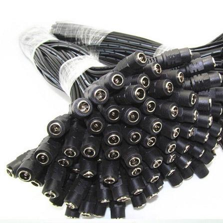DC Power Lead Female pigtail for CCTV camera power 500pcs DHL Free shipping