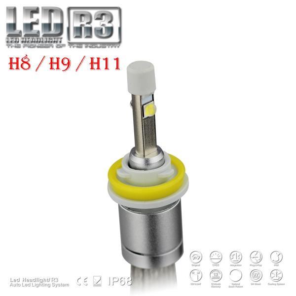 1 Set Hot R3 H11 80W 9600lm CREE LED Headlight XHP-50 CHIPS Auto Truck 12/24V Xenon White 6K Driving Fog Lamp Bulb Low Beam 40W 4800LM Halog