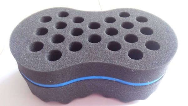 New Double Side Barber Hair Sponge Brush For Dreads Locking Twist Coil WAVE Blue High Quality Free Shipping