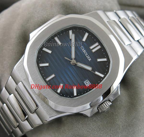 TOP quadrado automático mecânico mens watch 316L aço stianless caso e watchband mens casual watch 5711 / 1A