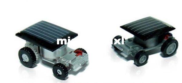 500pcs/lot New Solar Toys Gift Super Mini Toys Solar Energy Intelligent Car