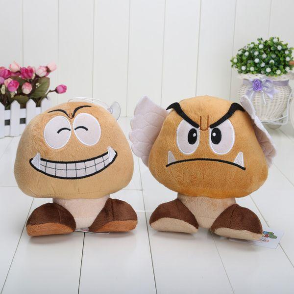 2020 Retail New 2 Styles 18cm Super Mario Bros Goomba Plush Doll