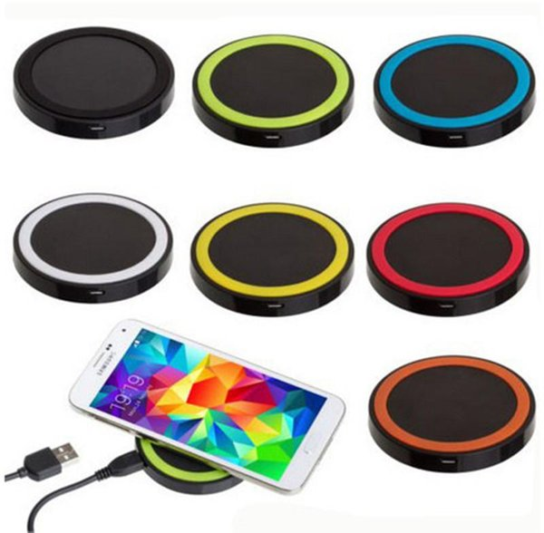 Qi Wireless Charger Cell Phone Mini Chargers Pad For Qi-abled Device Samsung Nokia HTC LG Cellphone With Retail Package