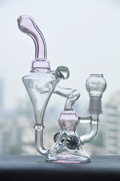 Tubulação de água de vidro hookah reciclar tubulação de água hookahs venda de fábrica de fumar tubo de vidro tamanho da junta 14.4mm