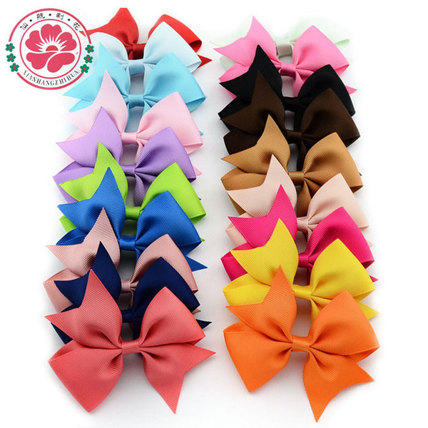 40 pcs 4'' Baby Girl Hair Bows Clips Boutique Hair Pin Grosgrain Ribbon Bows Hairpins Kids Girl Hair Accessories 565