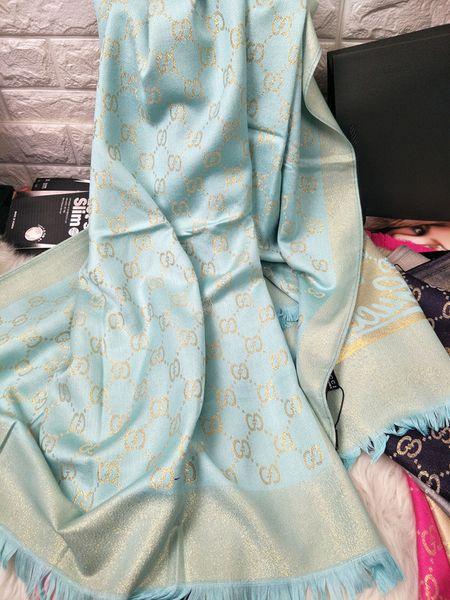Top Quality Hot Pashmina Cashmere Solid Shawl Wrap Women Scarf Soft Fringes Solid Scarf Wrap Shawl Pashmina Scarf Sky Blue 180x70cm