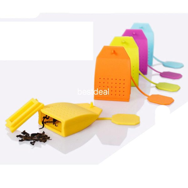 best selling new Bag Shaped Tea Infuser Popular Bag Style Silicone Tea Strainer Herbal Spice Filter Diffuser Kitchen Home slimming tea Infusers