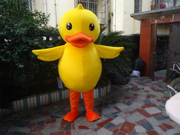 top popular Yellow duck mascot costume Adult sized 2020