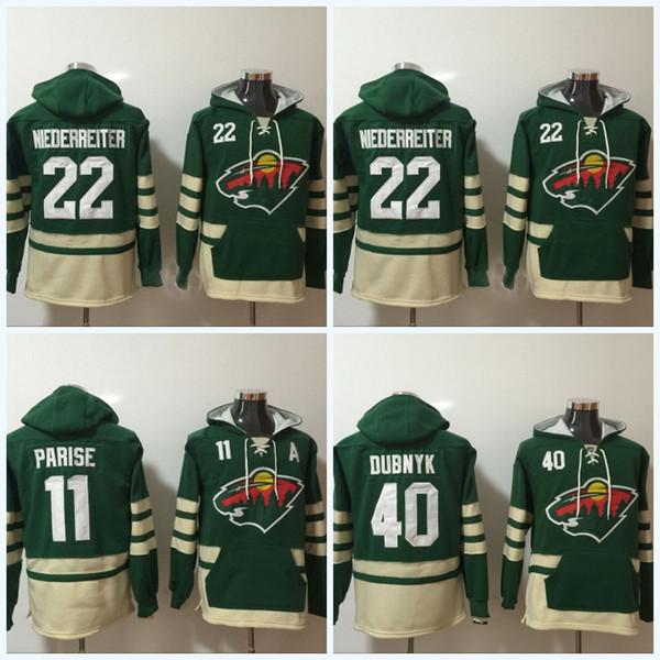 uk availability 6a0da f99d4 2019 Mens' Minnesota Wild Jerseys #22 Nino Niederreiter #11 Zach Parise #40  Devan Dubnyk Hoodie Sweater Hockey Jersey From Projerseyworld, $35.54 | ...