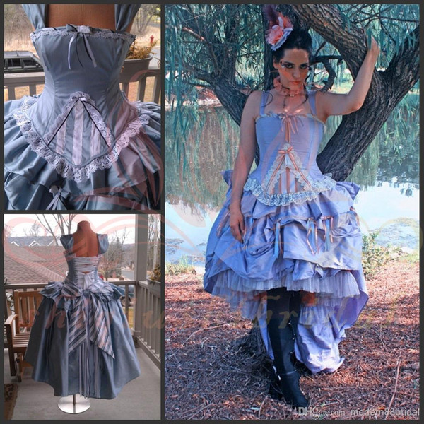 Victorian Dresses 2015 Alice Wonderland Wedding Gown Corset ...
