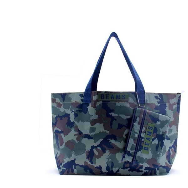 (1 set of 2pcs)Free Shipping Polyester Shopping Bags with Camouflage Pattern Shopping Bags Handbags and Storage Bag