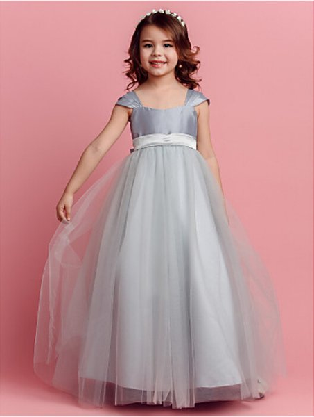 2020 Baby Clothes Clothing Set Kids Clothes Ball Gown Floor-length Flower Girl Dress - Taffeta/tulle Easter Halloween Christmas Birthday