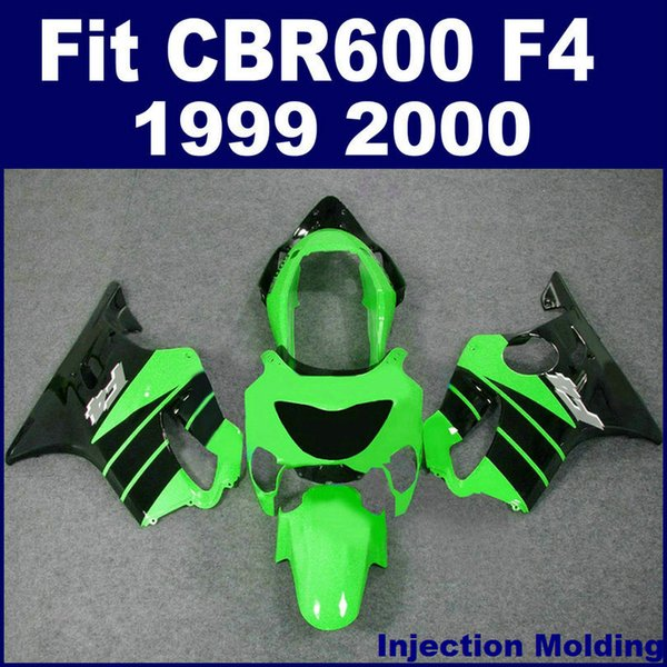 7Gifts +100% Injection molding fairing for HONDA CBR600 F4 1999 2000 green black 99 00 cbr 600 f4 fairings kits TYBC