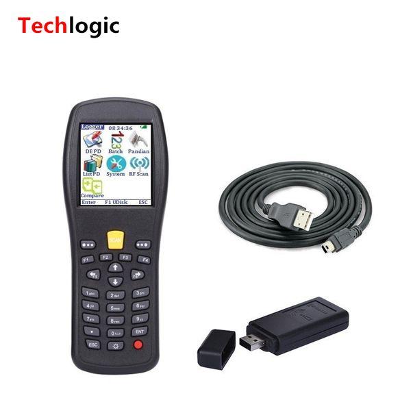 Wholesale- Techlogic X5 Wireless Laser Barcode Scanner Barcode Handheld Terminal PDA for Supermarket and Warehouse High Scan Speed Gun