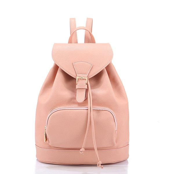 2015 New fashion backpacks for teenage girls korean cute big school book  bags female leather rucksack 6c710e19f796a