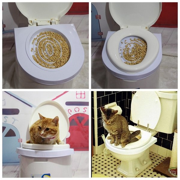Plastic Easy to Learn Cat Toilet Training Kit for pet Training and Behaviour Aids drop shipping