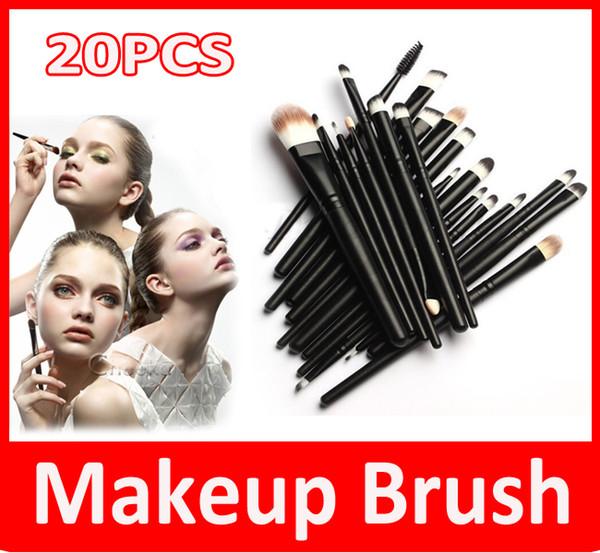 Maquillage professionnel 20 pcs Brosses Set Poudre Fondation Fard À Paupières Eyeliner Lèvres Brosse Outil Costumes pour maquillage professionnel ou usage à domicile