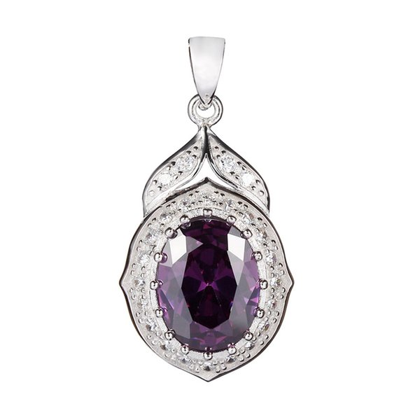 925 sterling silver Fashion Pendants Shinning Recommend Noble Generous S-3752 Sporty Amethyst Cubic Zirconia Classic Time limited discount