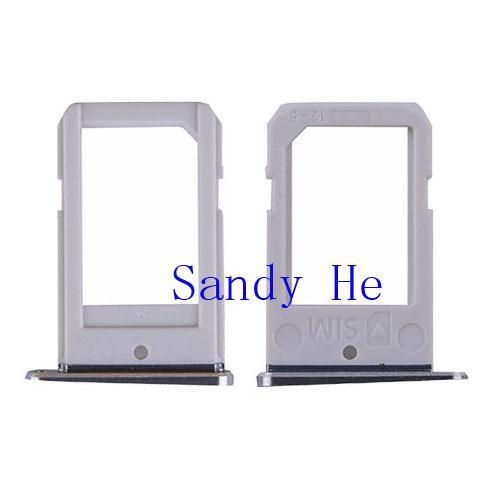 Wholesale-10pcs/lot New SIM Card Reader Tray Holder Slot For Samsung Galaxy S6 Edge G925 Gold Black White