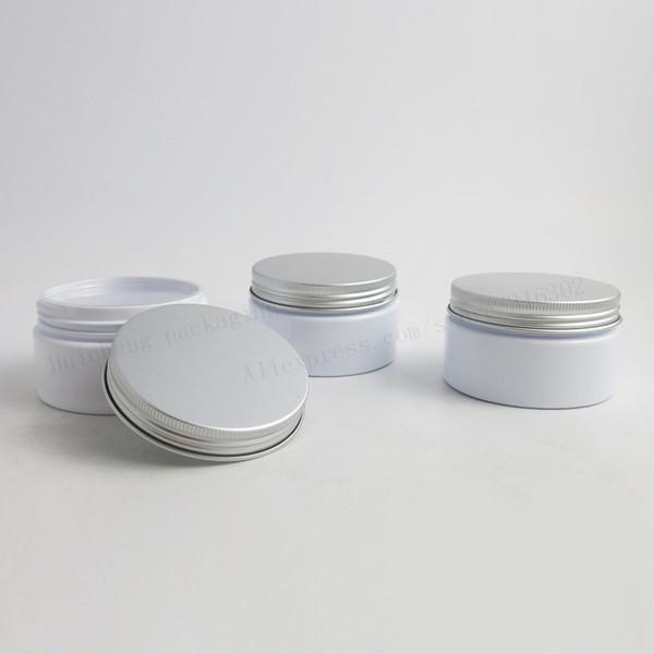 Tarro cosmético crema blanco vacío de 30 x 100g con tapas de aluminio