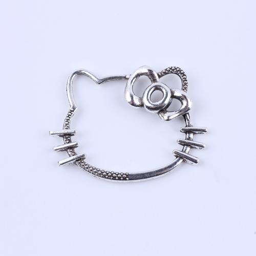 New fashion Retro Hello kitty charm silver/copper DIY jewelry pendant fit Necklace or Bracelets 50 pcs/lot #5135