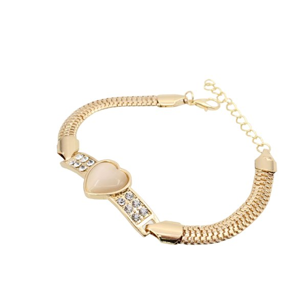 316l Stainless Steel Rose Gold Forever Love Heart Bracelet Wristband Charm Bangle Woman Party Gift fashion jewelry 18.5+5CM