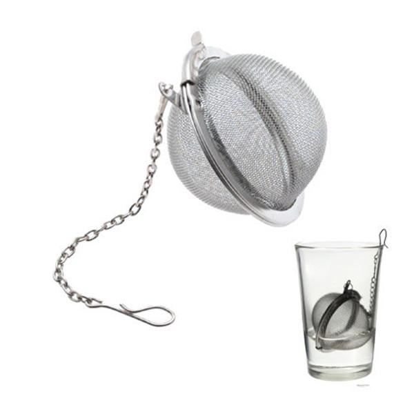 Tee infuser Sieb Edelstahl Teekanne Infuser Mesh Ball filter mit kette teekocher werkzeuge