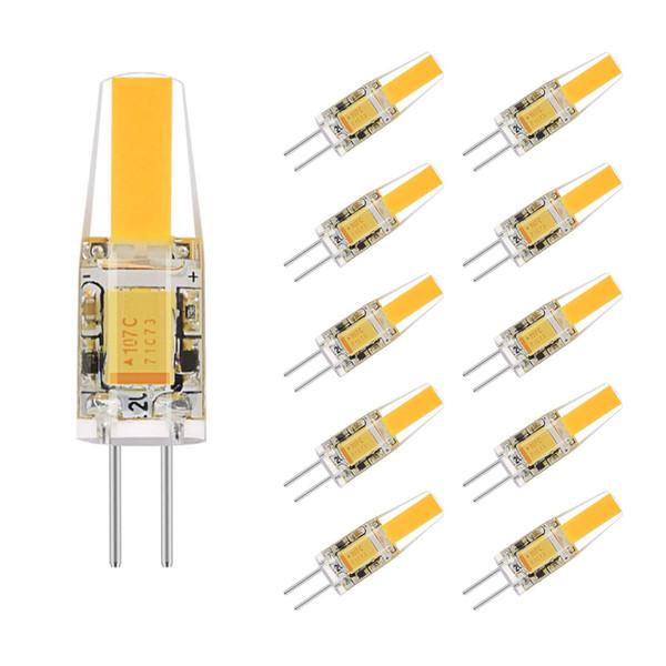Bombilla LED G4 Bi-pin COB AC / DC Luz de paisaje de 12 voltios 2 vatios (lámpara halógena equivalente de 20 vatios G4), 2700K 210LM Blanco cálido