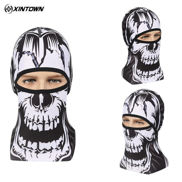Wholesale- XINTOWN printing head cover Dust-proof Cycling Face Mask Windproof Bike Full Face Scarf Mask Neck Bicycle Snowboard Ski Men