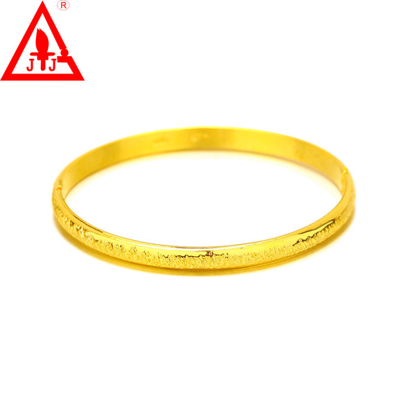 24K Yellow Gold Filled Bangles New Style Brass Cuban Luxury Fine Jewelry Adjustable Hot Sale Time Limited Real Bracelets Free shipping