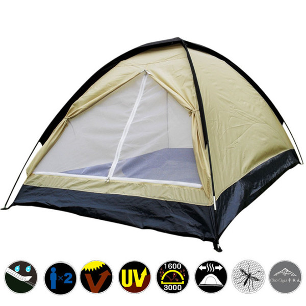 top popular Outdoor Folding Rain-proof Summer Camp Tent Windproof Portable Family Car Traveling Tent and Shelter Hiking Fishing Outdoor Furniture SK416 2021