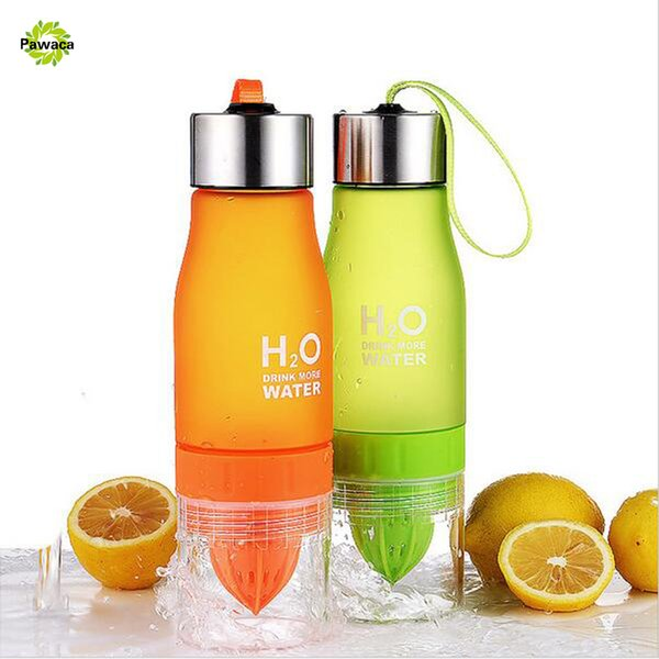 New 650ml Water Bottle H20 Plastic Fruit Infusion Bottle Infuser Drink Outdoor Sports Juice Lemon Fruit Juice Infuser Squeezers