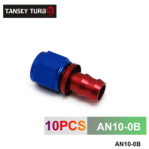 TANSKY - 10AN AN10 10-AN STRAIGHT SWIVEL OIL/FUEL/GAS LINE HOSE END PUSH-ON MALE FITTING AN10-0B