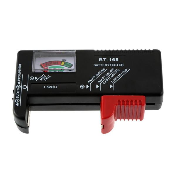 AA / AAA / C / D / 9V / 1.5V Pantalla Botón universal Célula Batería con código de color Indicador Indicar voltios Comprobador Comprobador BT-168