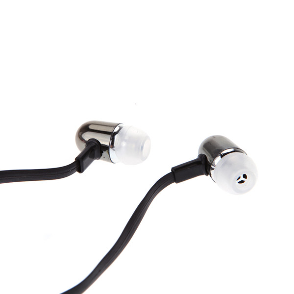 3.5mm Écouteurs In-Ear Stéréo Son Plat Câble Casque pour iPod iPhone MP3 MP4 Smartphone casque dans l'oreille