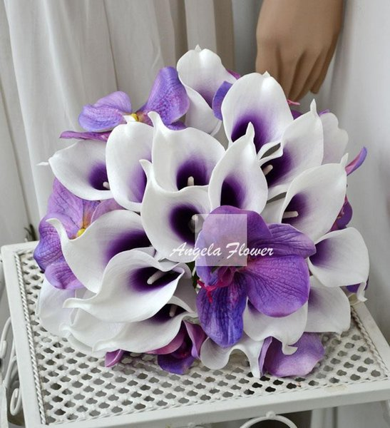 Новый симулятор лучший реального касания Калла Лили иск л цветок романтической свадьбы для дома Decorition