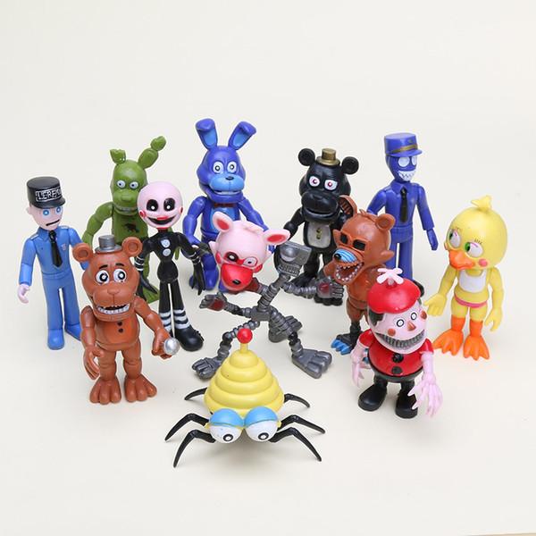 12pcs /Set 5 -11 .5cm Fnaf Five Nights At Freddy Toy Bonnie Foxy Chica Freddy Fazbear Bear Pvc Action Figures Toy Good Kids Gifts