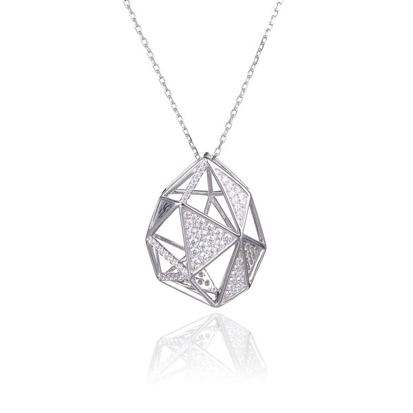 High Quality Crystal Cubic zirconia Universe Constellation Pendant Necklace Chain 925 Sterling Silver For Fashion Beauty Women