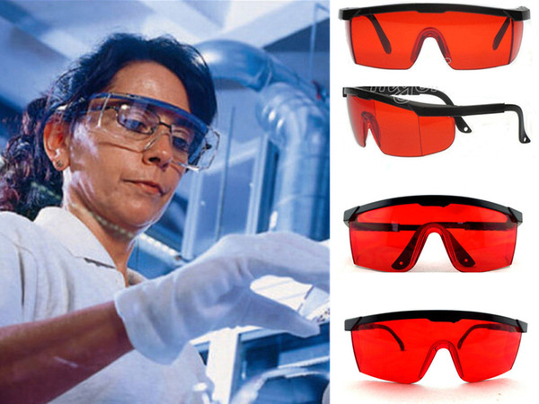 top popular Blue Safety Industrial Goggles Adjustable Red Frame Dental Protective Anti Laser Eyewear Tinted Air Windproof Splash-proof Safety Glasses 2019
