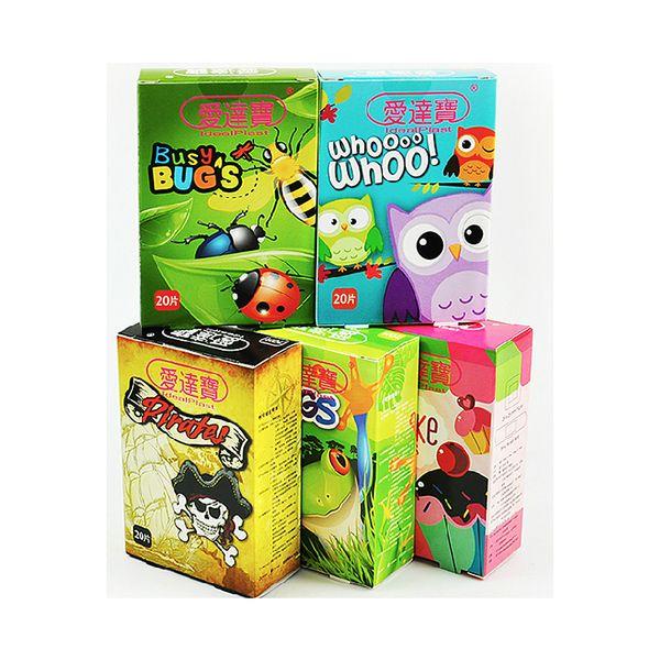 100 adet paket / 5 kutuları Çeşitli Nefes Çocuklar için Su Geçirmez Karikatür Yapışkanlı Bandajlar Hemostaz Bant Yardımı Çocuklar