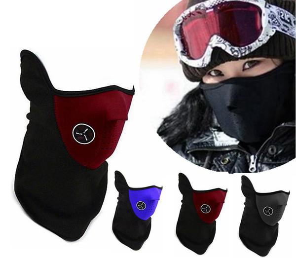 Neopreno cuello media mascarilla deportes al aire libre más caliente máscara Unisex ciclismo máscara de la motocicleta velo a prueba de viento nieve moto motocicleta esquí guardia